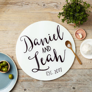 Personalised Anniversary Chopping Board - engagement gifts