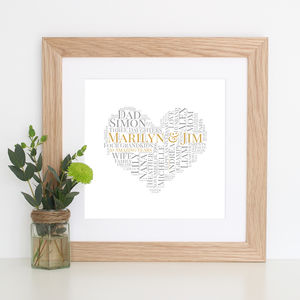 Personalised Golden Wedding Anniversary Gift - posters & prints