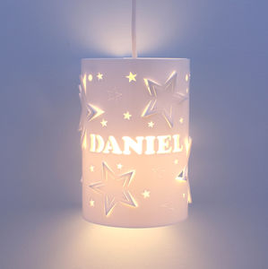 Personalised Mixed Star Ceiling Shade - dreamland nursery