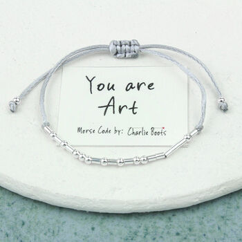 'You Are Art' Morse Code Bracelet