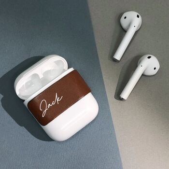 Personalised Leather Air Pods Label