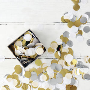 Silver And Gold Foil Party Confetti In A Box