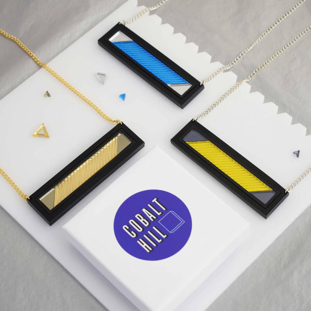 Bar Acrylic Necklace