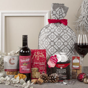 The Snowy Christmas Sack Festive Gift Hamper - chocolates & confectionery