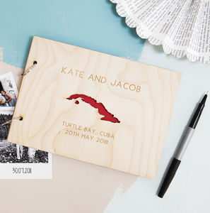 Personalised Location Map Guest Book