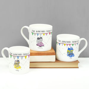 Personalised Set Of Ski Boot Family Mugs
