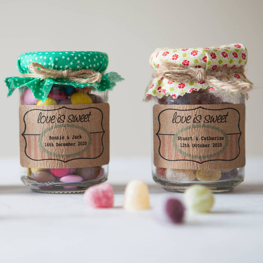 18 'Love is Sweet' Favour Stickers - wedding favours