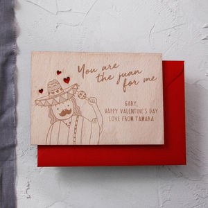 'You Are The Juan For Me' Valentine Postcard