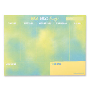 'Busy Busy Busy' Weekly Planner
