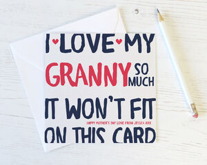 'Love Gran / Nan / Grandma / Nanny / Nana So Much' Card