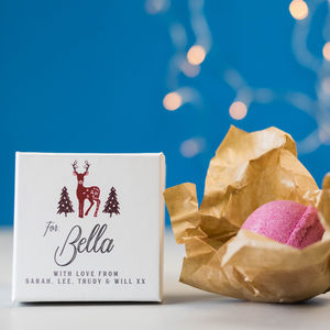 Personalised Individual Luxury Bath Bomb - stocking fillers for her