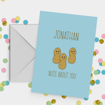 'Nuts About You' A5 Valentine's Day Card