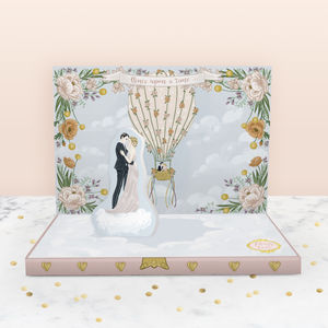 Love's Great Adventure Wedding Music Box Card - wedding cards