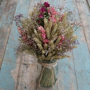Summer Haze Dried Flower Jam Jar Posy