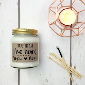 Personalised 'There's No Place Like Home' Soy Candle - home accessories