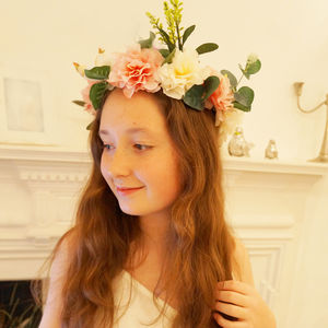 Gail ~ Floral Head Garland - hair accessories
