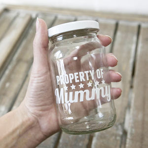 Personalised Mummy Treat Storage Jar - gifts for the home