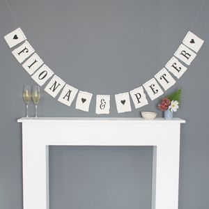 De Luxe Personalised Hand Painted Bunting - bunting & garlands