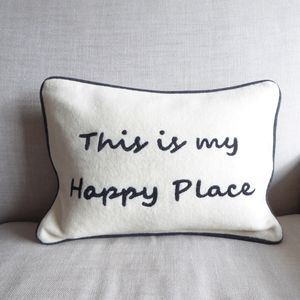 Felted Wool Slogan Cushion