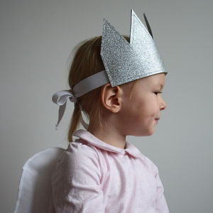 Glitter Crown Dress Up Silver