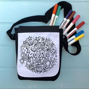 Music Colour Me In Bag - cross-body bags