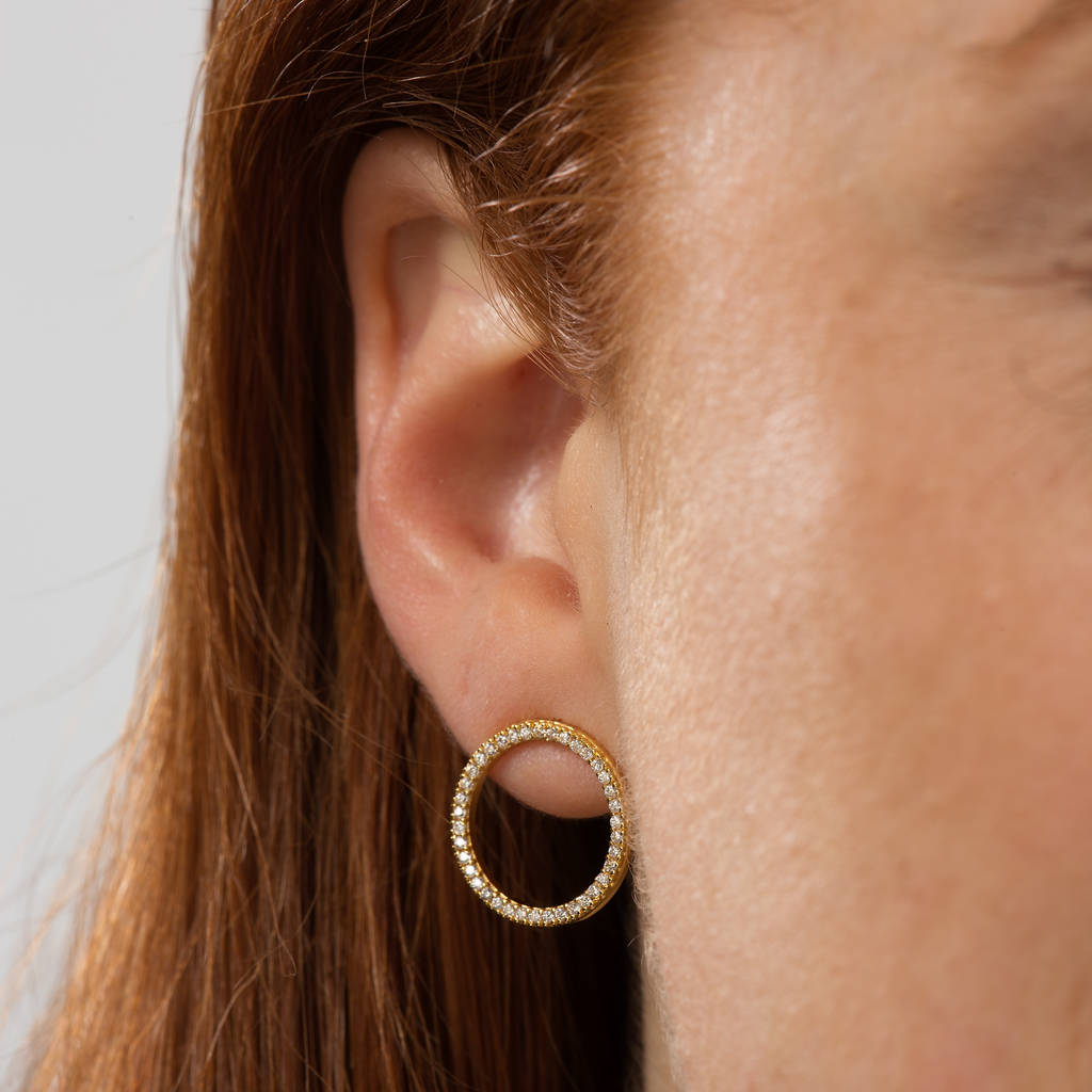 company open by guru circle original earrings com handmade notonthehighstreet product guruclothing