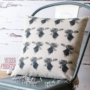 Vintage Moose Cushion Cover - cushions