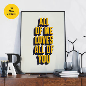 Personalised Favourite Song Lyric / Quote Art Print