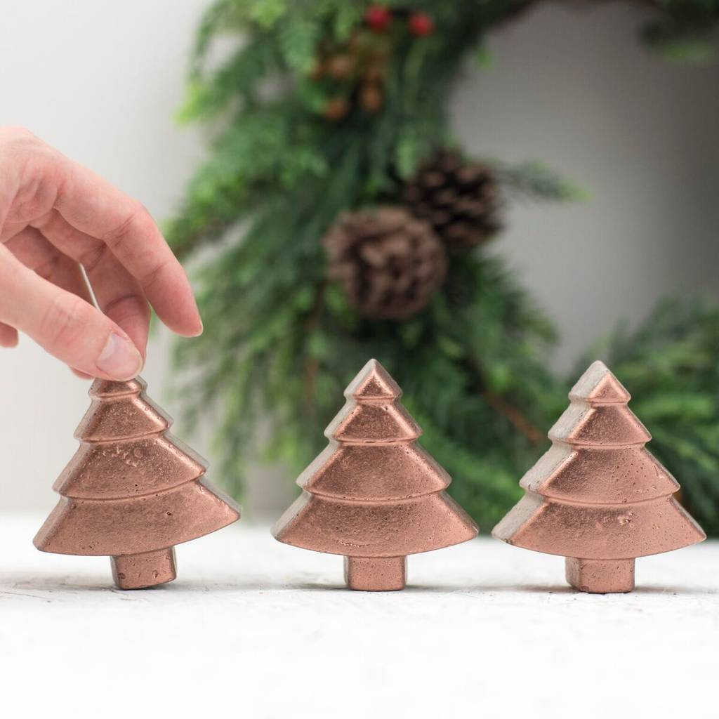 Large Concrete Christmas Trees