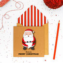 Handmade Happy Santa Claus Personalised Card Or Pack