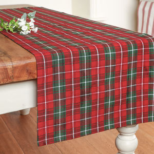 Traditional Tartan Christmas Table Runner - table runners