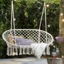 Cream Macrame Double Hanging Seat