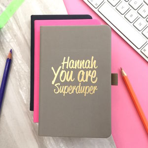 Personalised 'Superduper' Notebook - writing