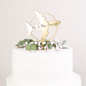 Wedding Cake Topper Travel Theme - cake toppers & decorations
