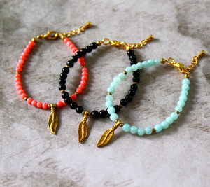 Children's Feather Charm Bracelet