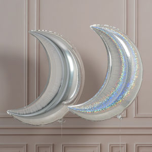 Giant Holographic Crescent Moon Foil Balloon