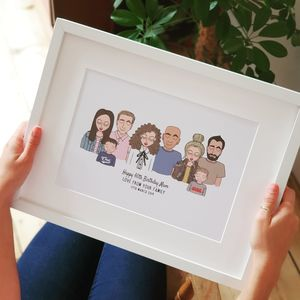 Personalised Illustration Family Print