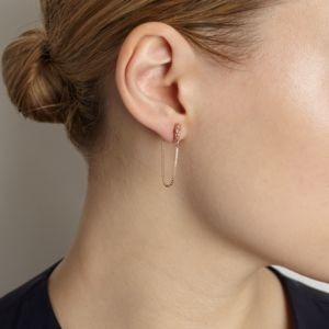 Illusion Chain Stud Earrings - earrings