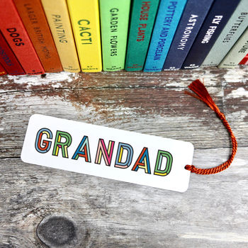 Dad Or Grandad's Metal Bookmark