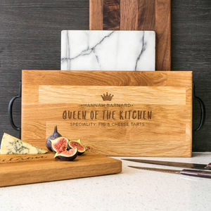 Queen Of The Kitchen Premium Solid Oak Serving Platter - sale by category