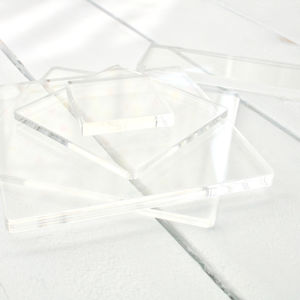 Clear Acrylic Stamp Block, Square Rectangle Accessory
