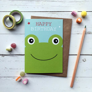 Cute Frog Birthday Card