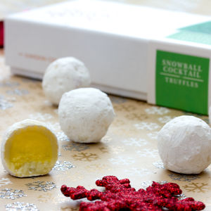 Snowball Cocktail Truffles Christmas Gift Box