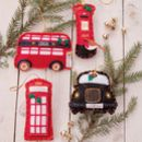 Felt Great British Christmas Decorations