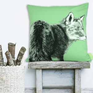 The Lonesome Fox Cushion