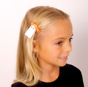 Boo! Ghosty Halloween Hair Clip