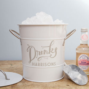 Personalised Ice Bucket - garden accessories