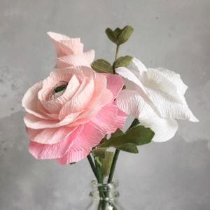 A Trio Of Paper Flowers