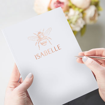 Bee Notebook Personalised Foil