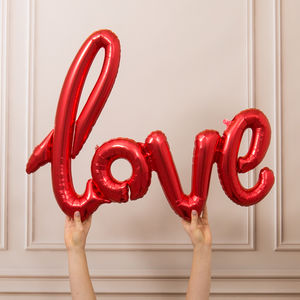 Valentine's Love Banner Balloon - best valentine's gifts for her